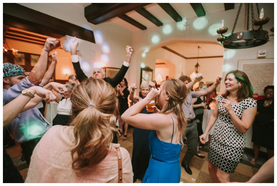 Dance floor at a wedding reception